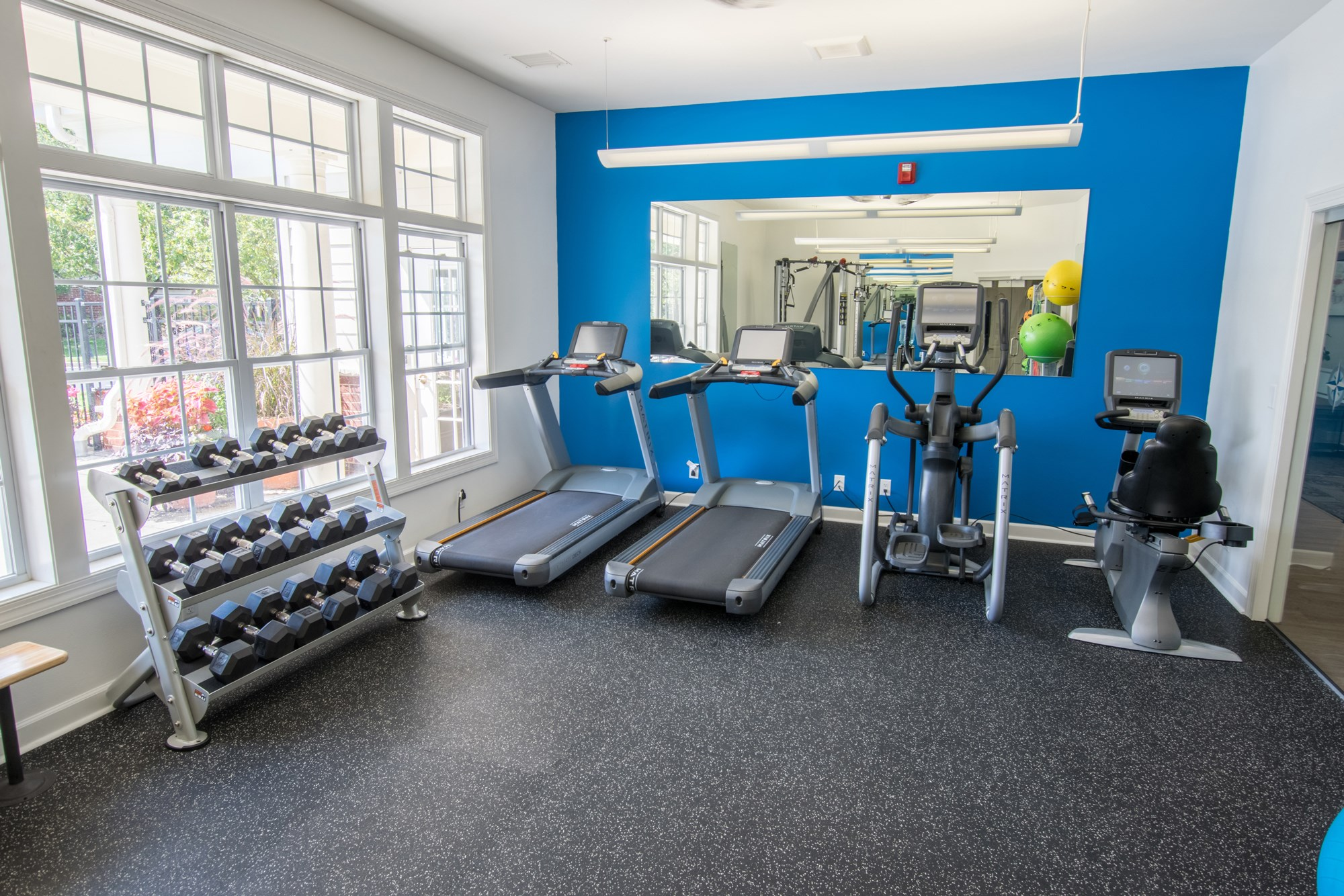 Fitness Center at Norhardt Crossing Apartments in Brookfield, WI
