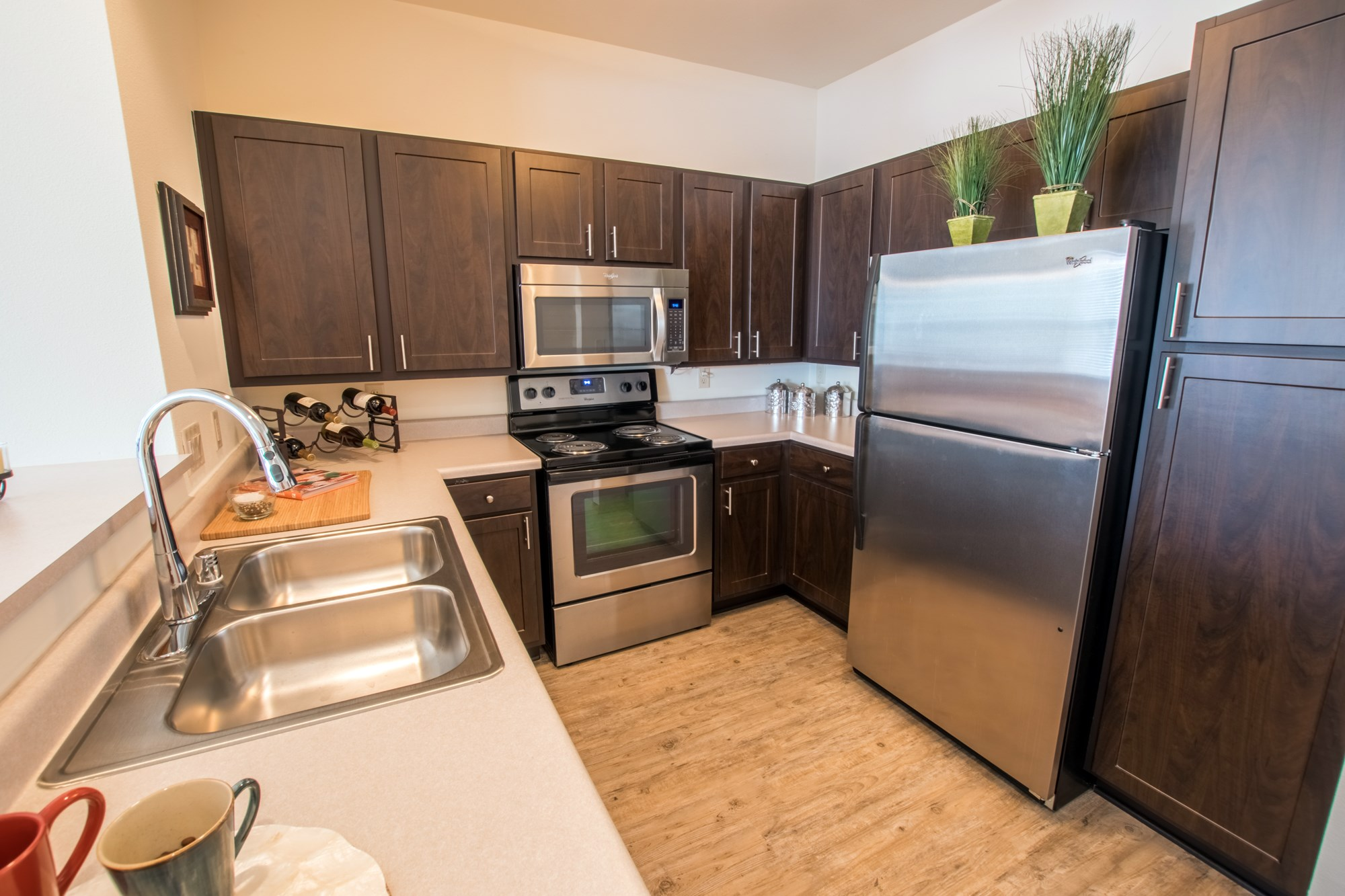 Kitchen at Norhardt Crossing Apartments in Brookfield, WI