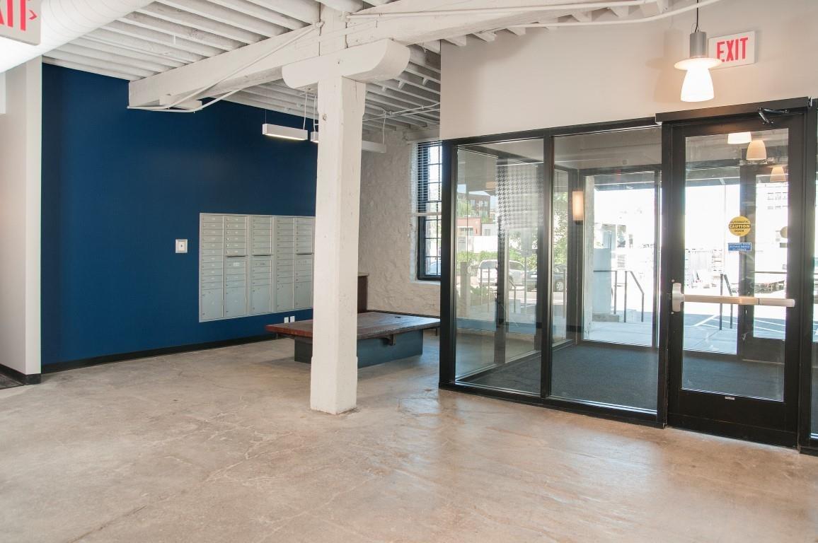 Secured Double Door Entrance to Lobby of Minneapolis Apartment in North Loop Neighborhood