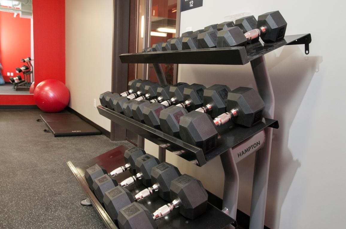 Free Weights in Fitness Center