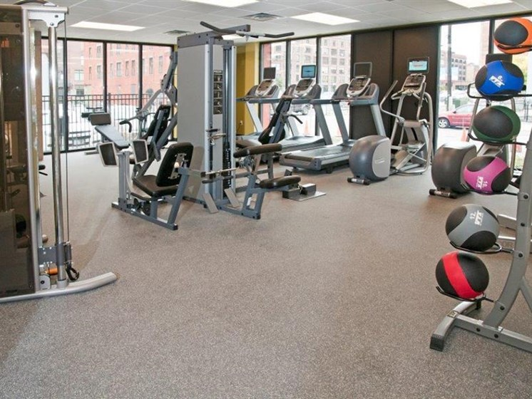 Fitness Center with Separate Spin Room at Third North, Minneapolis, MN