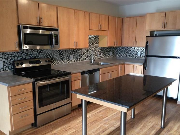 Glass Tiled Kitchen Backsplash at Third North, Minnesota, 55401