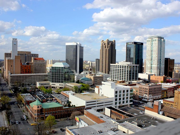 View of Birmingham from Thomas Jefferson Tower roof