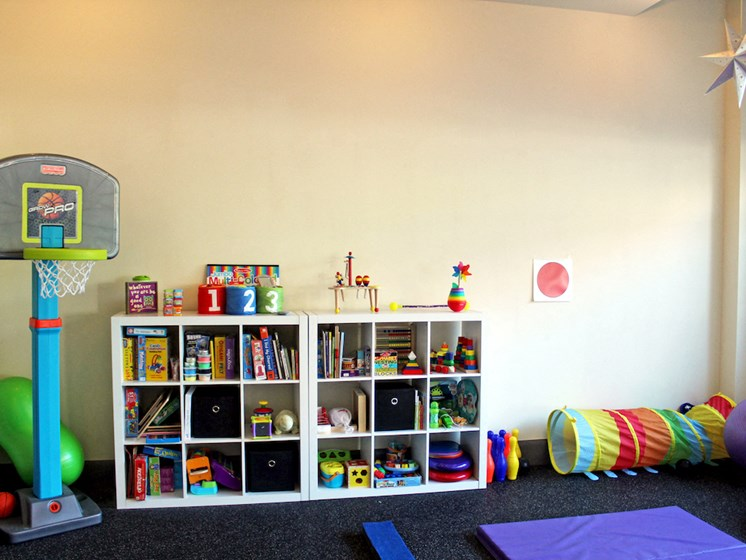 boost physical therapy playroom area