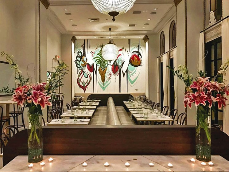Dining room at Roots & Revelry Restaurant