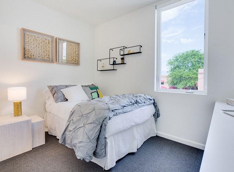 Comfortable Bedroom With Large Window at Watercooler, Idaho, 83702