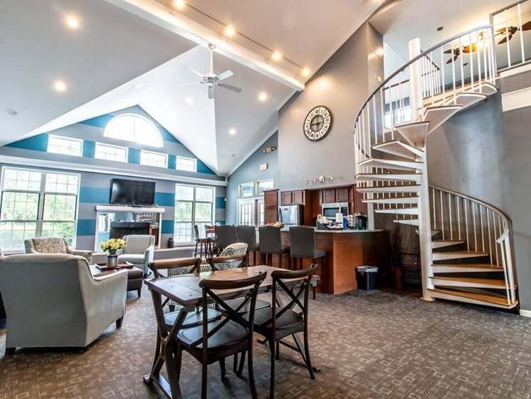 Large apartment clubhouse for entertaining