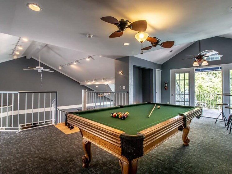 Billiards at Madison Heights apartments