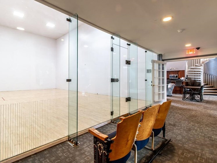 racquetball court in Madison Heights apartments