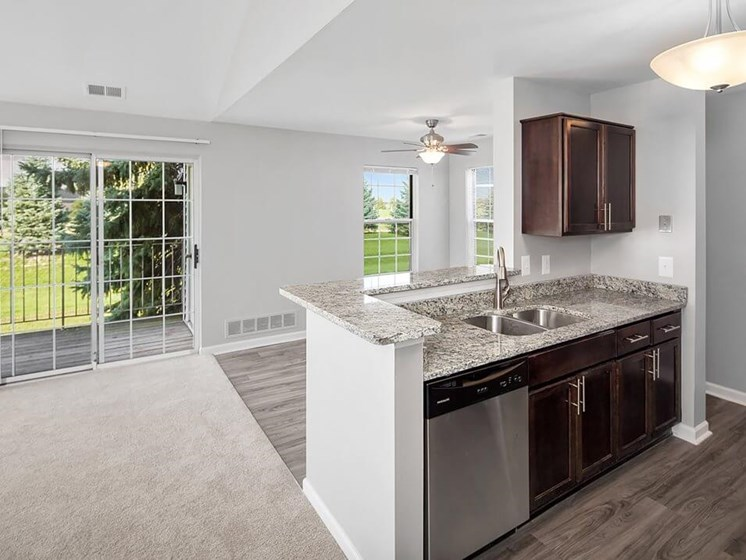 kitchen at The Heights Apartments