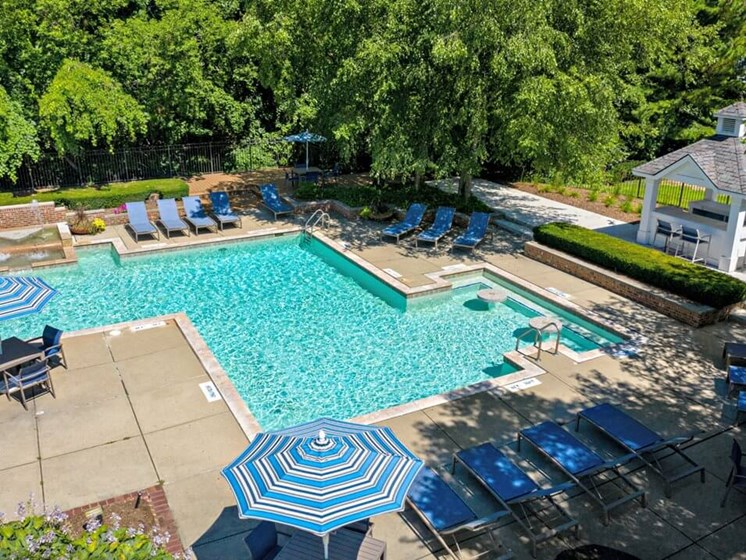 swimming pool at The Heights Apartments