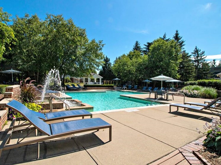 swimming pool at Madison Heights Mi apartments