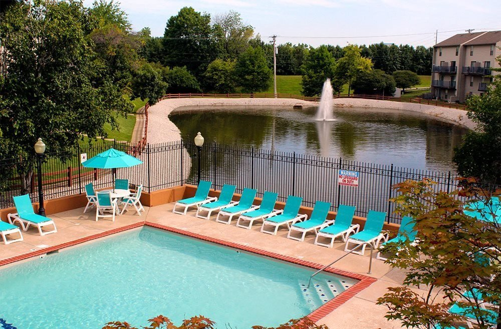 swimming pool at Westchester Village Apartments in O'Fallon, MO