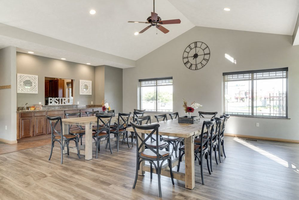 Tables for residents  at Grand Legacy apartments and townhomes in west Omaha NE 68130