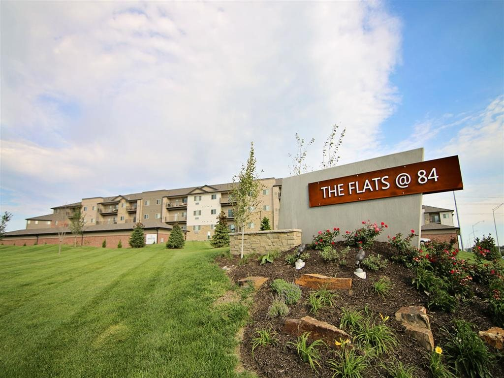 Exterior view of at The Flats at 84 in southeast Lincoln NE 68516