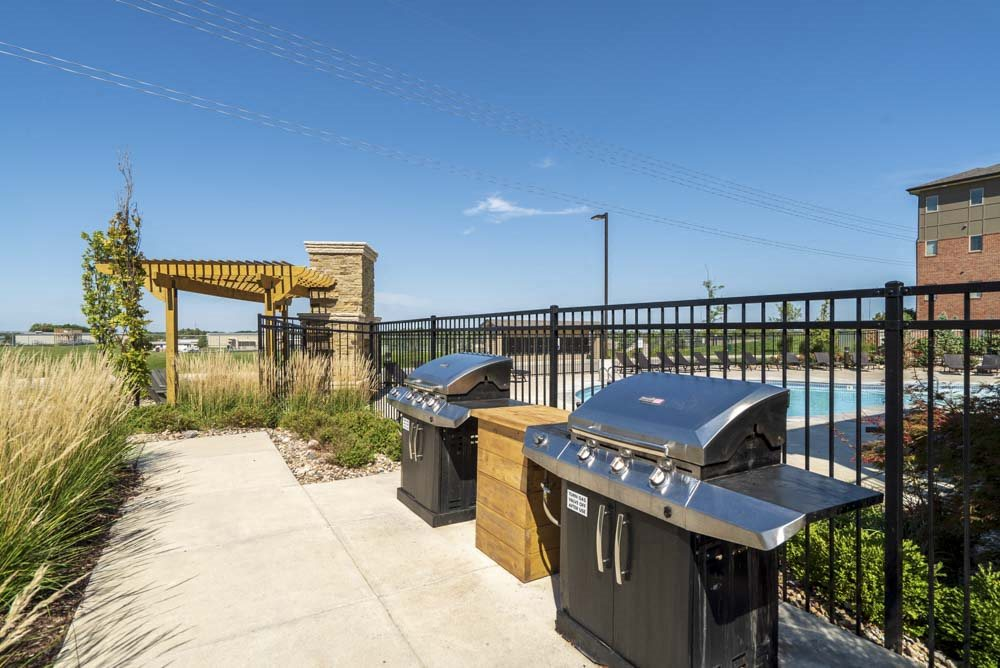 Outdoor grills at The Flats at 84 in southeast Lincoln NE 68516