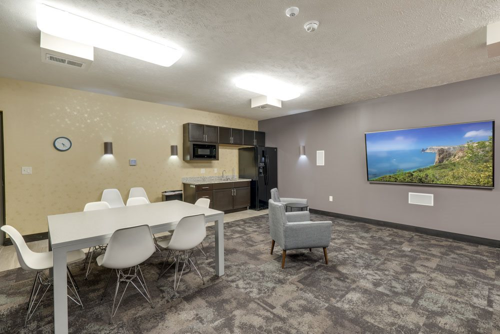 Theater room at The Flats at 84 in southeast Lincoln NE 68516