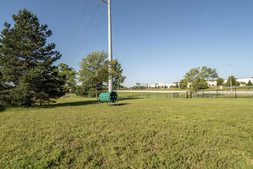 Dog park at Highland View Apartments in north Lincoln NE 68521