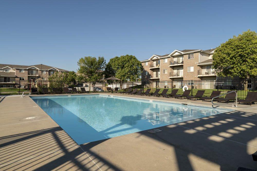 Heated pool at Highland View Apartments in north Lincoln NE 68521