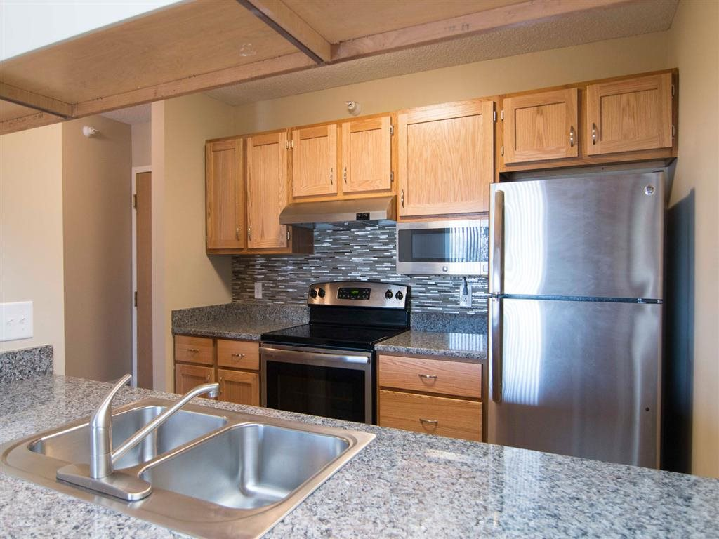 Interiors-Skyline View Apartments Updated Kitchen in Lincoln NE