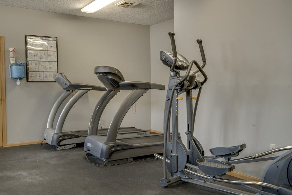 Fitness center at Skyline View Apartments!