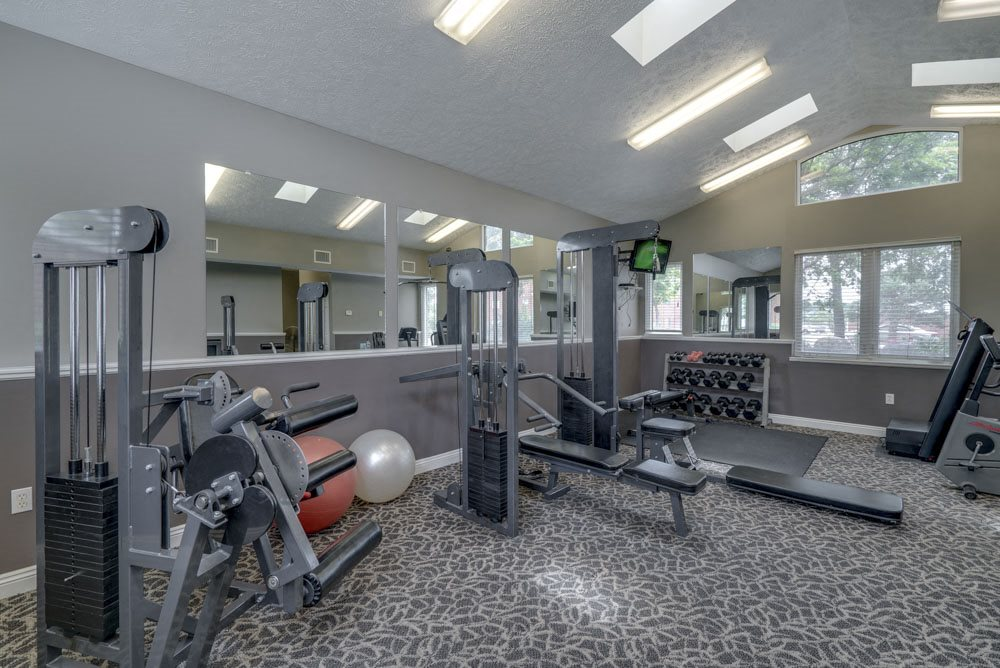 Fitness center at Pine Lake Heights