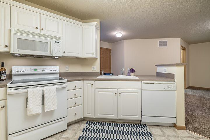 Open and Bright Kitchens at Pinebrook Apartments in Lincoln NE