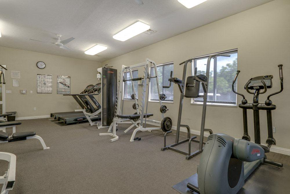 Fitness center at Pinebrook Apartments!