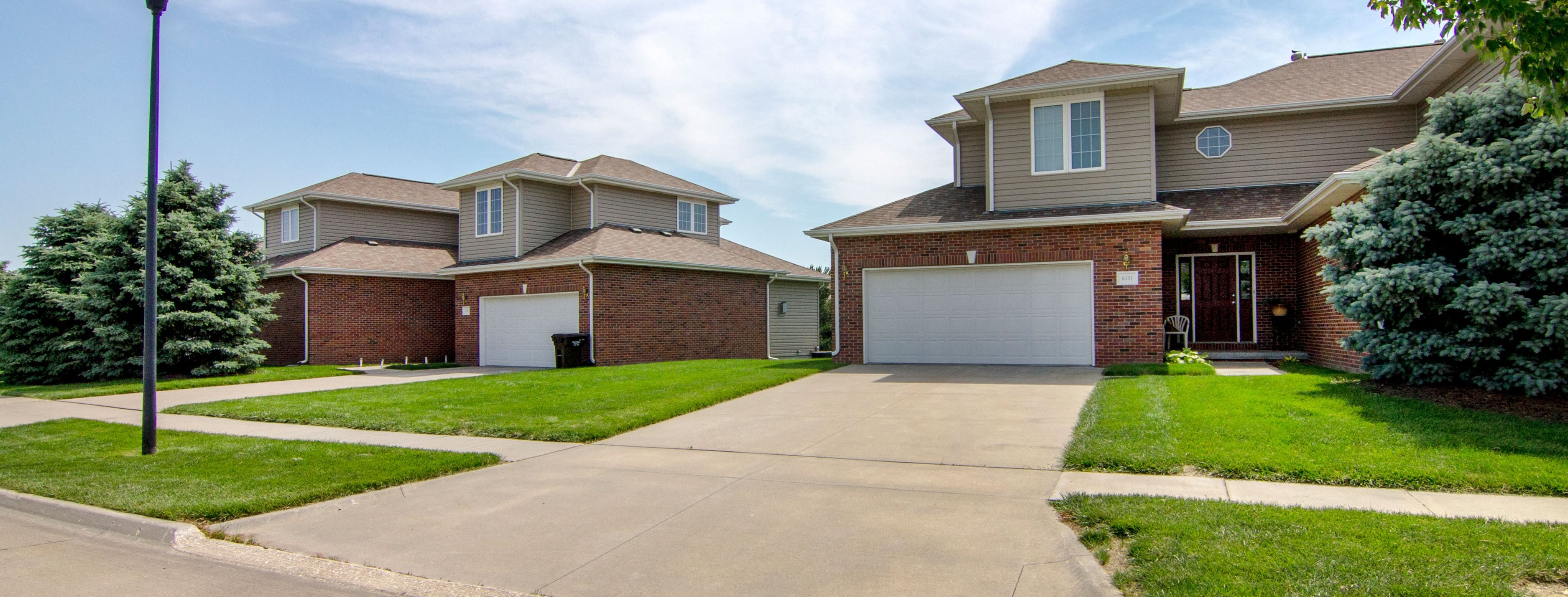 Outside view of Cascade Pines Duplex Homes in Lincoln NE