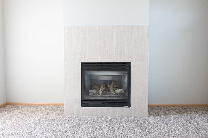Gas fire place at Cascade Pines Town-homes Lincoln Nebraska
