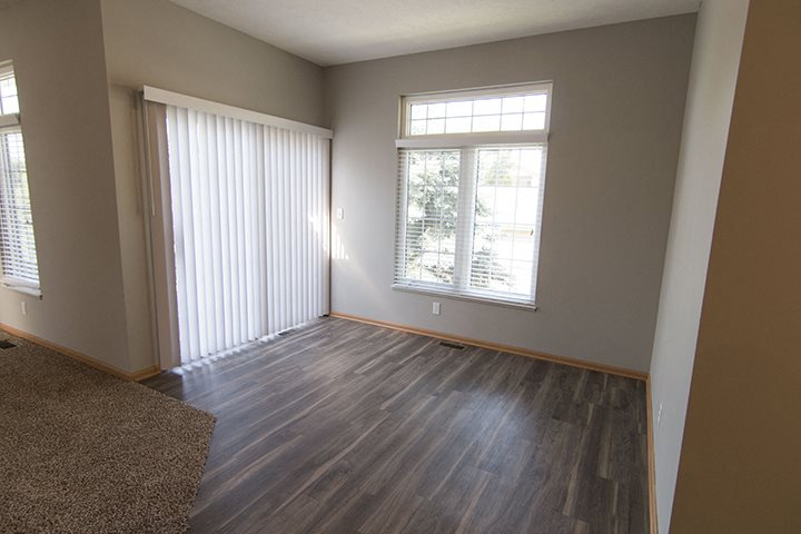 Dining room right off of kitchen at Cascade Pines Town-homes Lincoln Nebraska