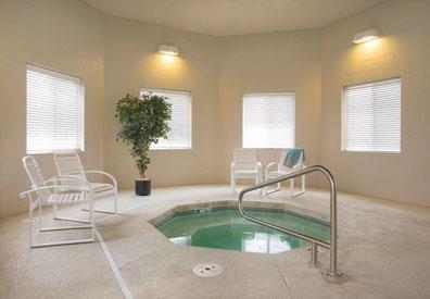 Cascade Pines Duplex Homes Hot Tub in Lincoln NE