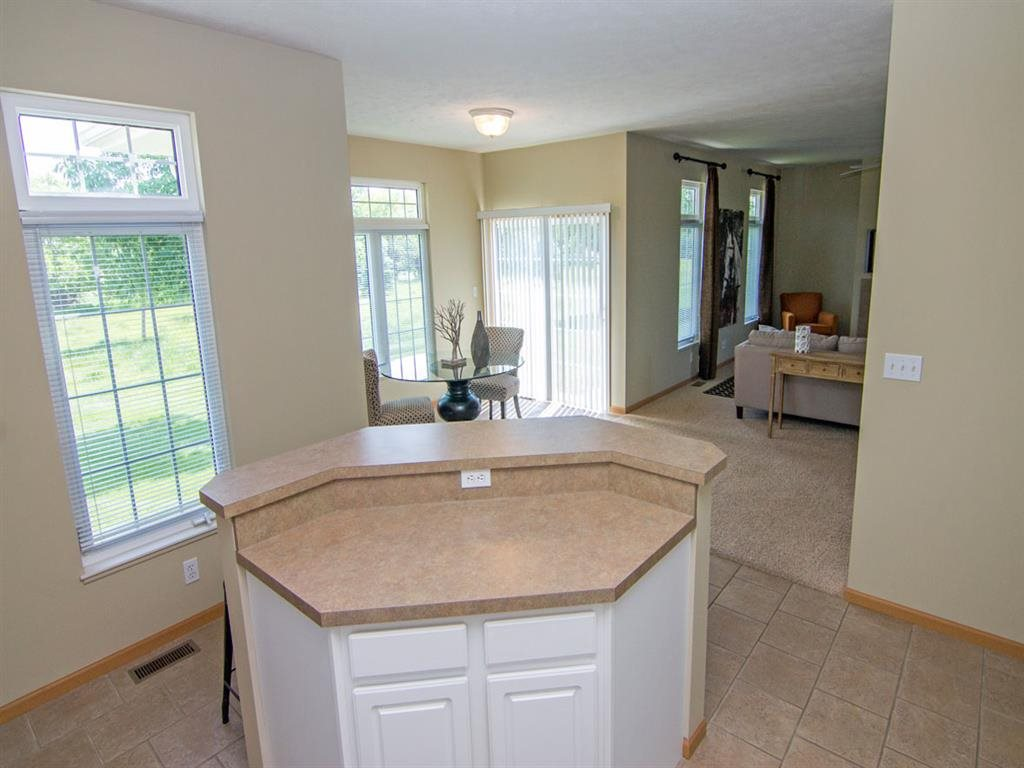 View from Kitchen of Dining Room and Living Room at Cascade Pines Duplex Homes in Lincoln NE