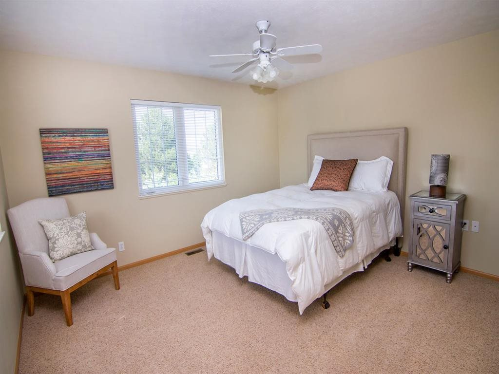 Bedroom at Cascade Pines Duplex Homes in Lincoln NE