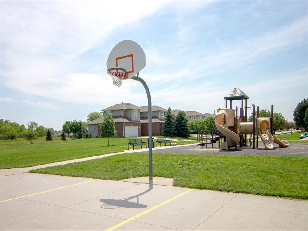 Cascade Pines Duplex Homes Basketball Court at Park in Lincoln NE