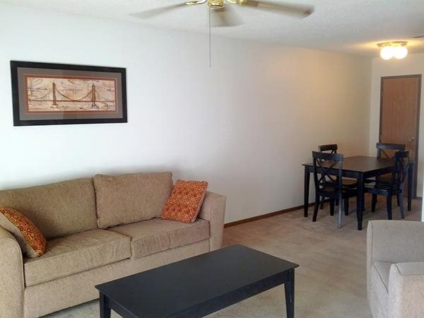 spacious living area at Moore Place Apartments in Lincoln Nebraska