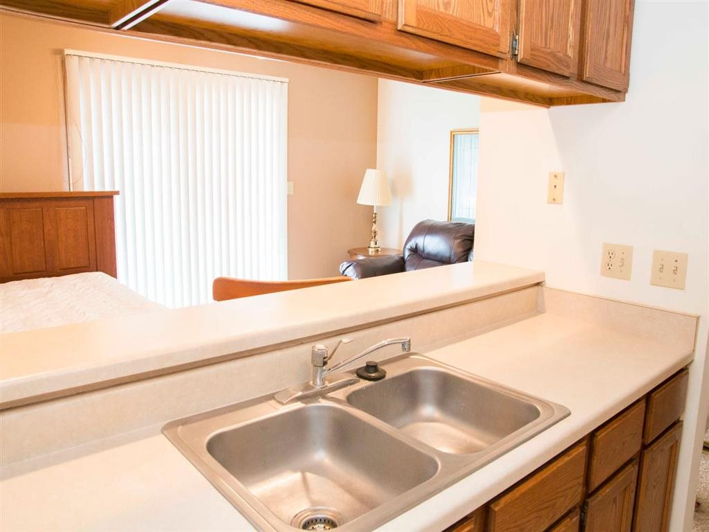 kitchen sink at Capitol View Apartments in Lincoln Nebraska