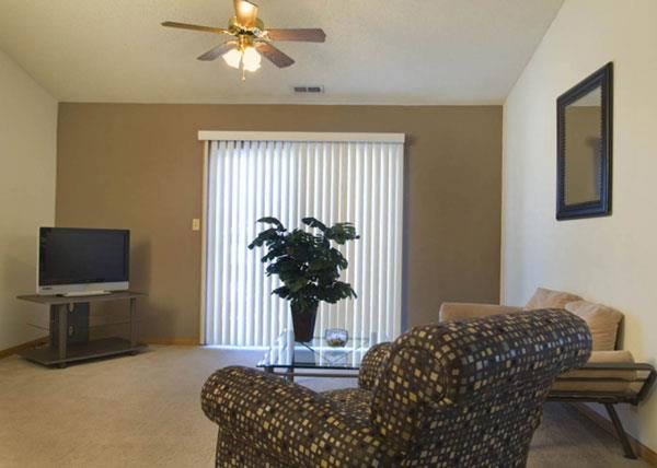 living room at Capitol View Apartments in Lincoln Nebraska