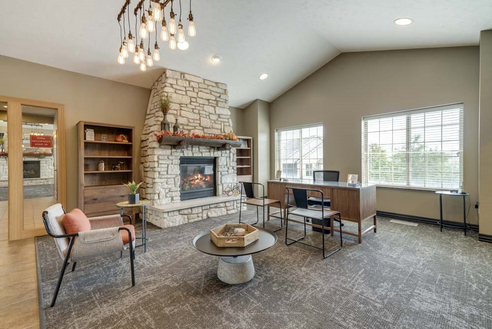 Welcome center in the leasing office at Stone Creek Villas townhomes in west Omaha NE 68116