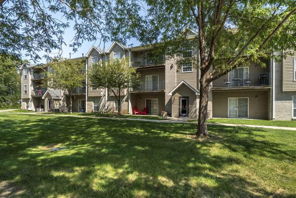 Greenspace around community at Eagle Run Apartments in northwest Omaha 68164