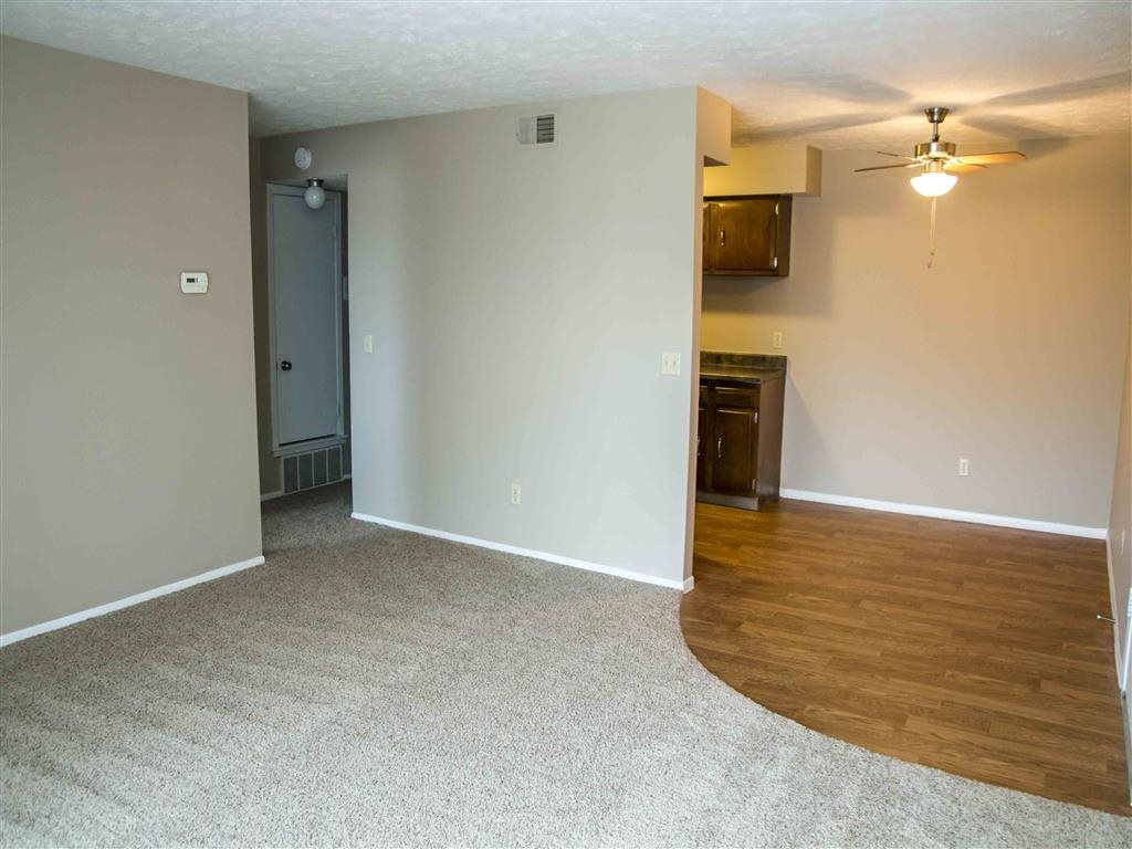 living space and dining area at Place 72 in Omaha Nebraska