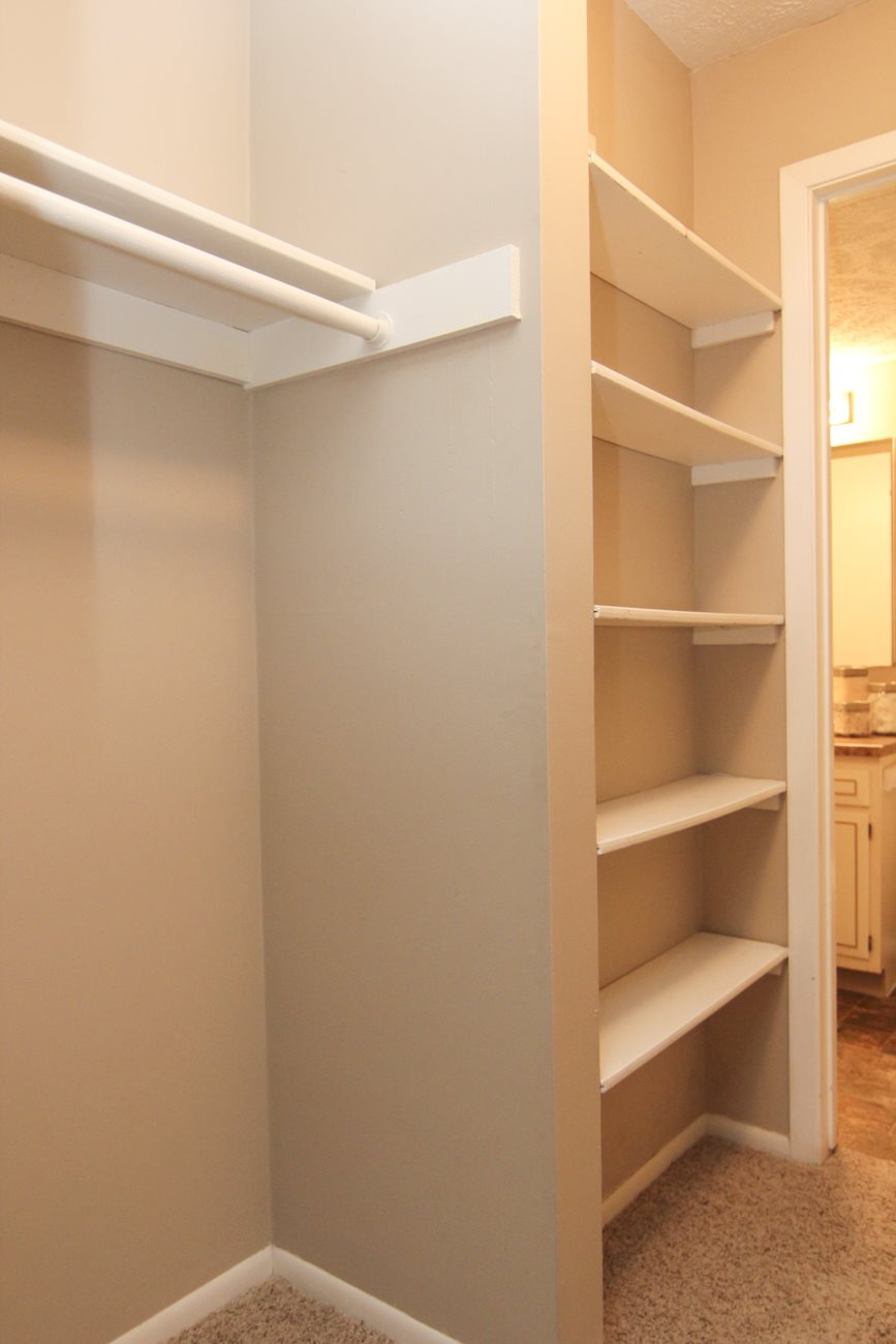 Interiors-Place 72 Apartments walk-in closet with shelving