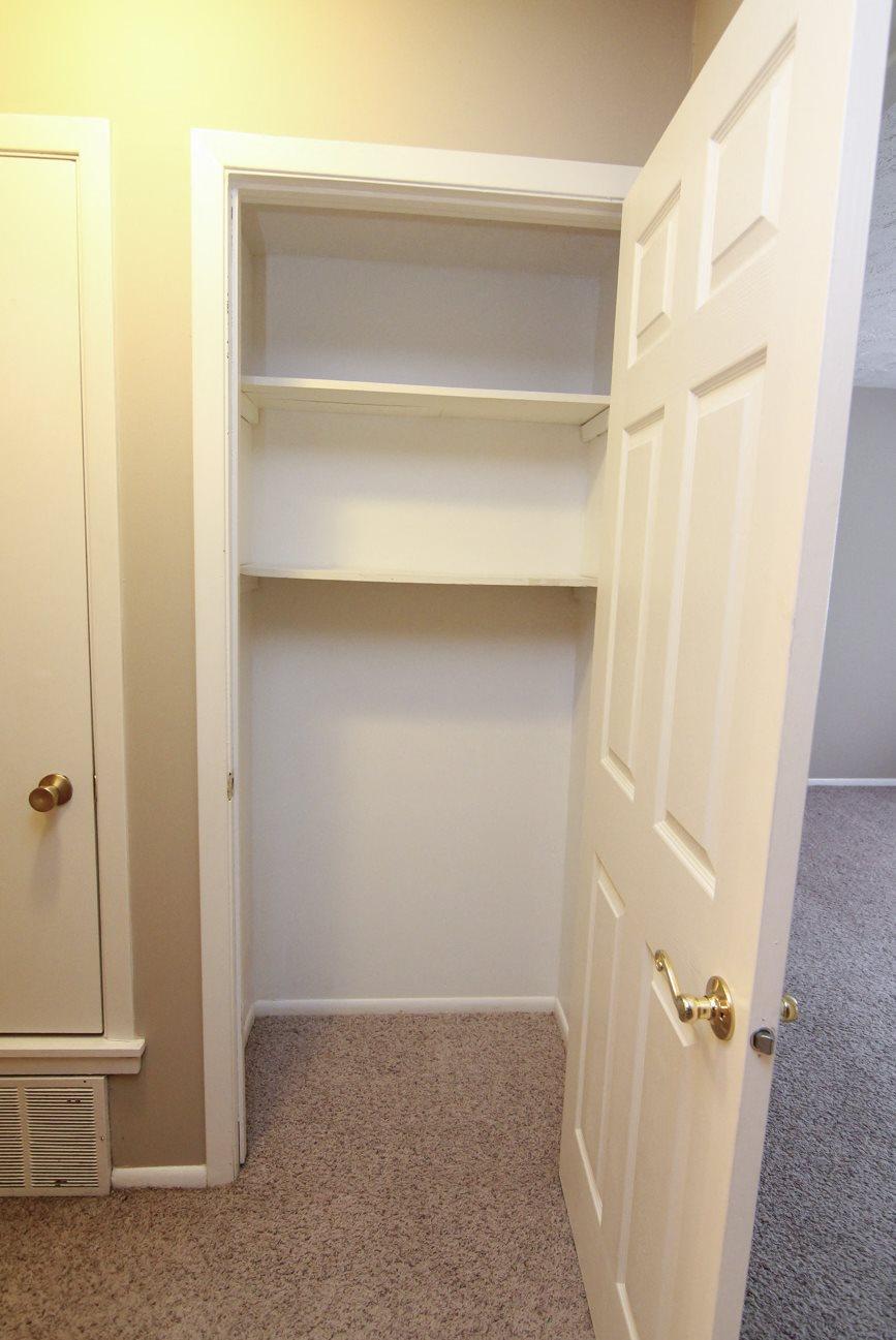 Interiors-Place 72 Apartments closet for storage