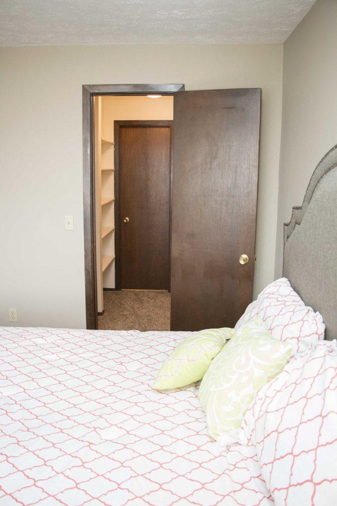 View of walk-in closet from bedroom