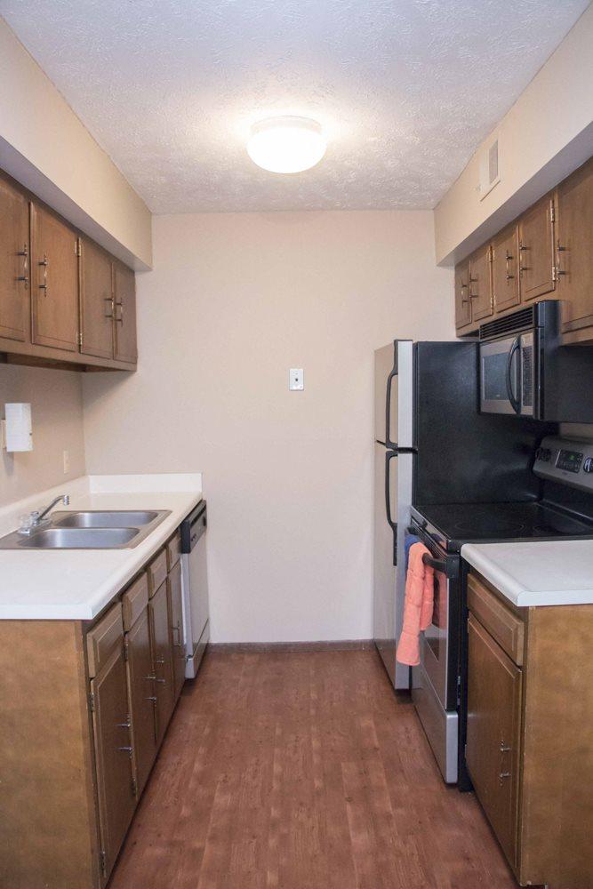 Updated kitchen at Place 72 near Aksarben