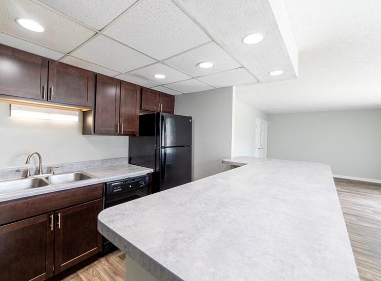 Modern Kitchen at Barrington Estates, IN, 46260