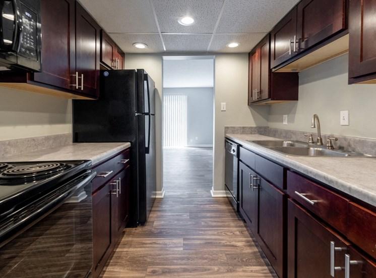 Modern kitchen at Barrington Estates, Indianapolis, Indiana