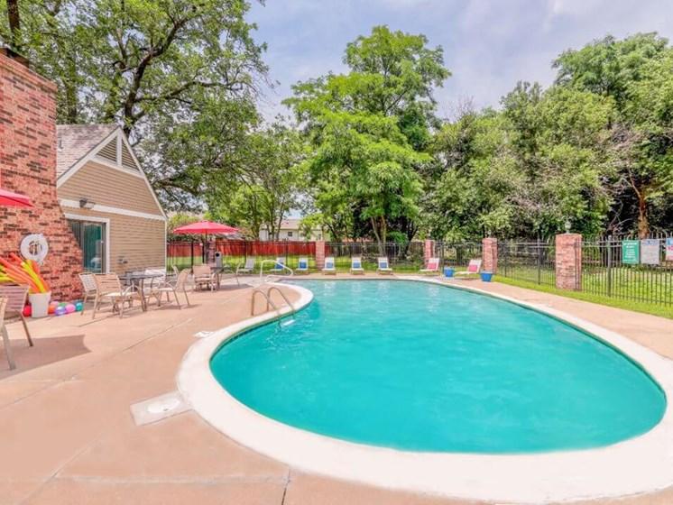 swimming pool at Wichita KS apartment