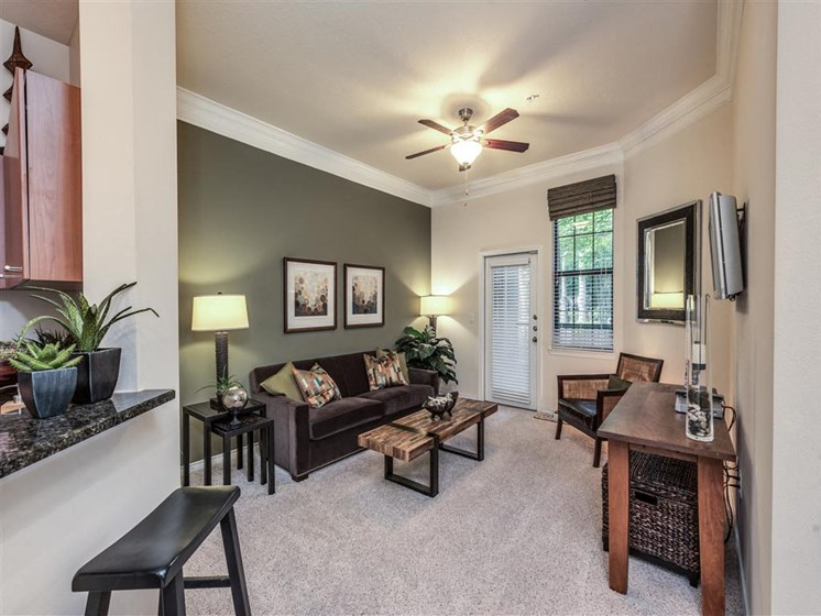 Contemporary Interiors at The Circle at Hermann Park in Houston, Texas