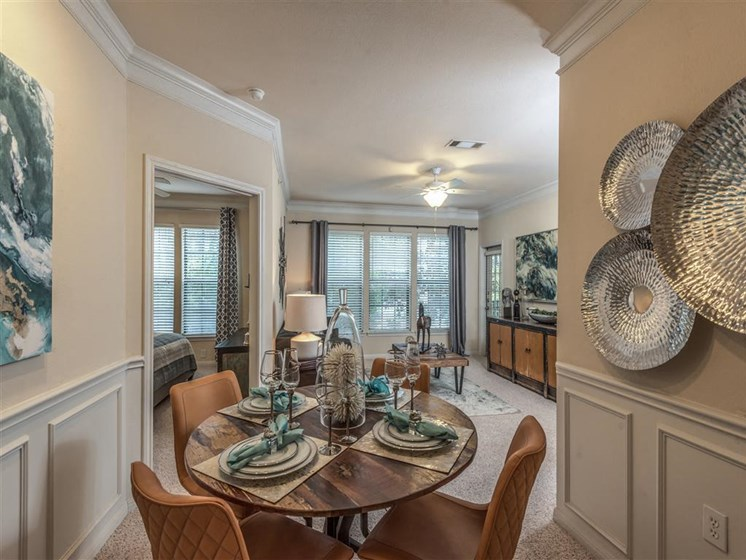 Dining Room at The Circle at Hermann Park in Houston, Texas